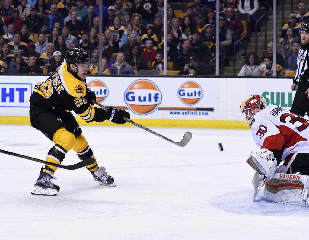 David Pastrnak - photo courtesy: USA Today Sports Images